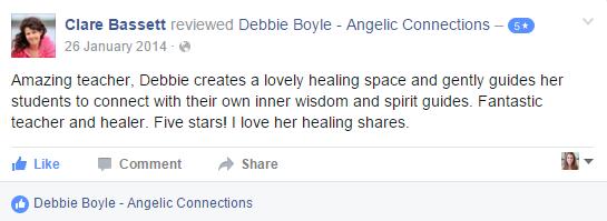 Debbie Boyle Angelic Connections Testimonial 1