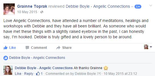 Debbie Boyle Angelic Connections Testimonial 11