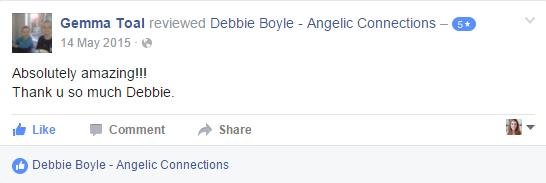 Debbie Boyle Angelic Connections Testimonial 12