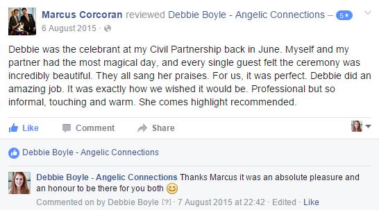 Debbie Boyle Angelic Connections Testimonial 13