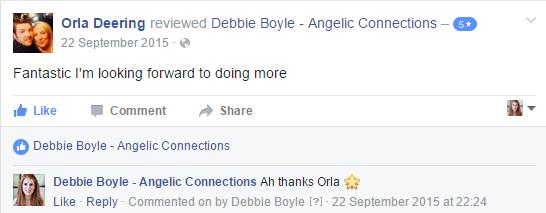 Debbie Boyle Angelic Connections Testimonial 14