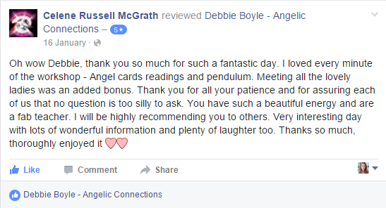 Debbie Boyle Angelic Connections Testimonial 16