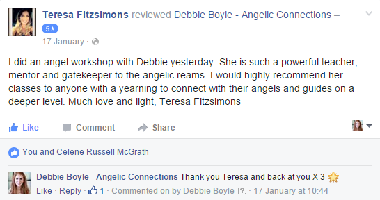 Debbie Boyle Angelic Connections Testimonial 17