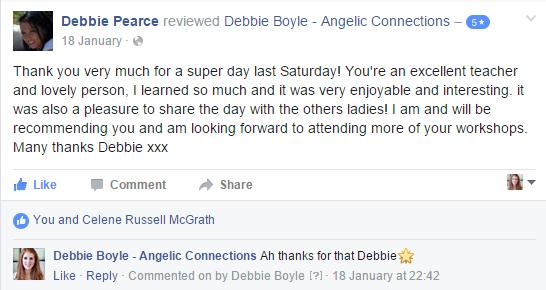 Debbie Boyle Angelic Connections Testimonial 18