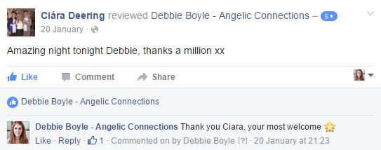 Debbie Boyle Angelic Connections Testimonial 19