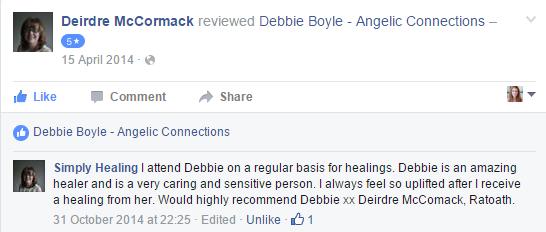 Debbie Boyle Angelic Connections Testimonial 2