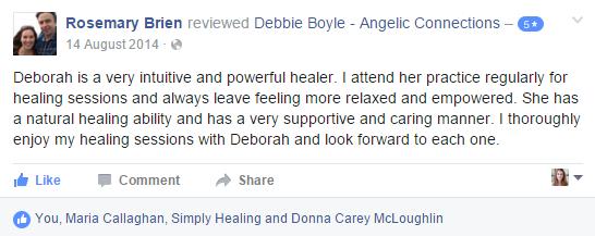 Debbie Boyle Angelic Connections Testimonial 3