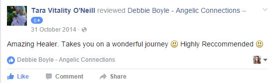 Debbie Boyle Angelic Connections Testimonial 6