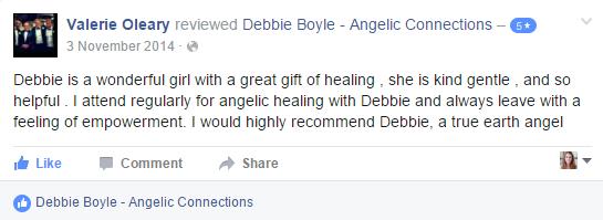 Debbie Boyle Angelic Connections Testimonial 7
